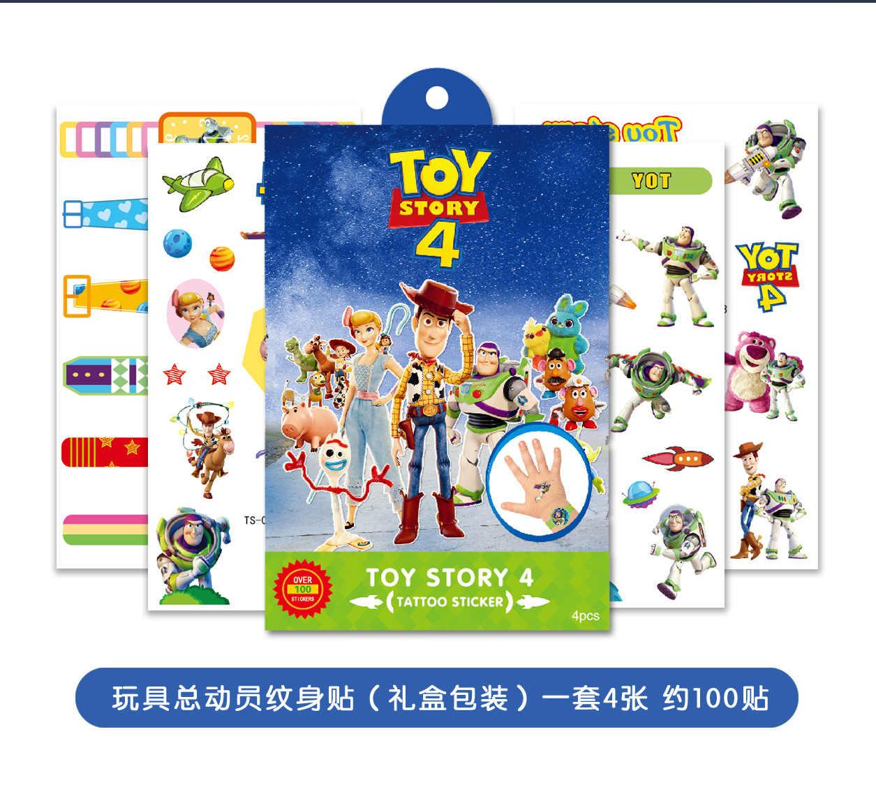 Disney oyuncak hikayesi Woody Buzz çocuk geçici dövme vücut sanatı flaş dövme çıkartmalar dondurulmuş elsa anna su geçirmez Styling Sticker