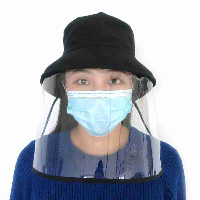 Professional Transparent Face Mouth Masque Mask Hat Protection Face Mask Anti-Spitting Splash Waterproof Windproof Hat Mask