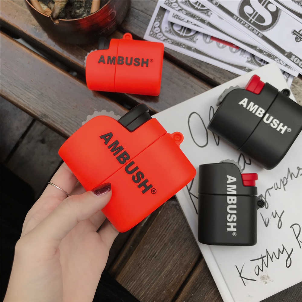 New Cute Ambush Lighter Shape Wireless Bluetooth Earphone Case For Apple Airpods Pro 3 1 2 Box 3d Soft Silicone Headset Cover Aliexpress