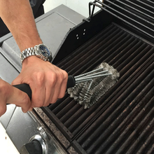 2021 Steel BBQ Brush Grill and Scraper BBQ Cleaner Brush Perfect Tools Grill Cleaning Brush Ideal Barbecue Accessories