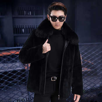 2019 new real rabbit fur full fur men's jacket thickening men's casual fur one fox fur collar collar hooded - DISCOUNT ITEM  49% OFF All Category
