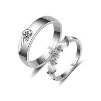 Pair of angel wings couple rings Adjustable Ring Wedding Engagement Couples Pair Rings Crystal Jewelry