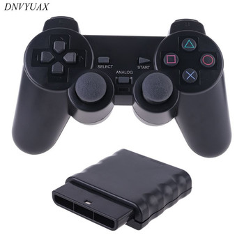 цена на Wireless Gamepad Vibrator 2.4G Game Controller Joystick with Receiver for PS2
