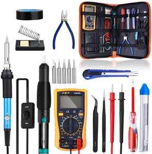 Soldering-Iron-Kit Welding-Tool Electric Temperature Adjustable 220V/110V 60W
