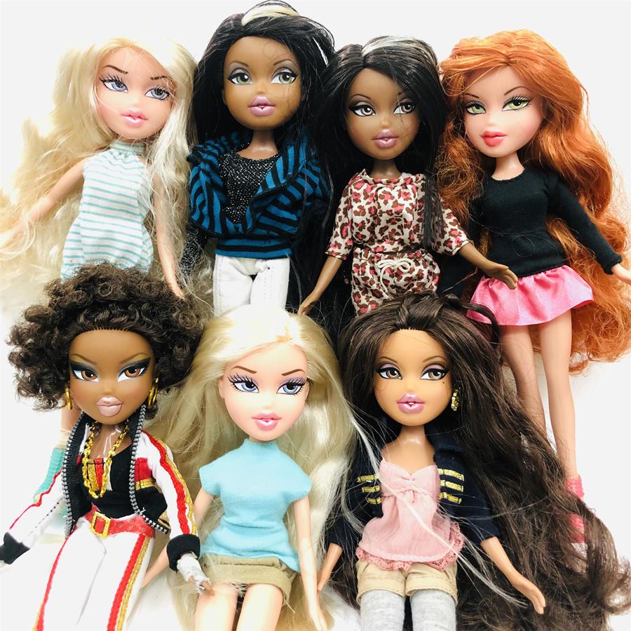 New 23cm Original Fashion Action Figure Original Bratz Doll YASMIN Red Hair Beautiful Doll Best Gift For Child