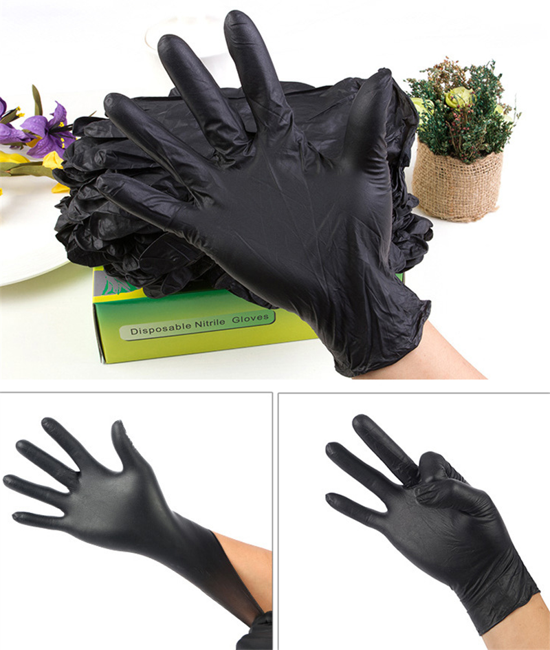 2pcs Hair Gloves Hair Shampoo Hair Coloring Antiskid Gloves Repeated Use Of Gloves Salon Tools Black Latex With Particles Gloves
