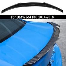 Carro de fibra carbono asa traseira tronco tampa spoiler asa para bmw m4 f83 2014 2015 2016 2017 2018