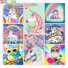 ZOOYA 5D DIY Full Square /Round Drill Diamond Painting Cartoon Magic Unicorn 3D Rhinestones Cross Stitch Mosaic Decor Gift CH221