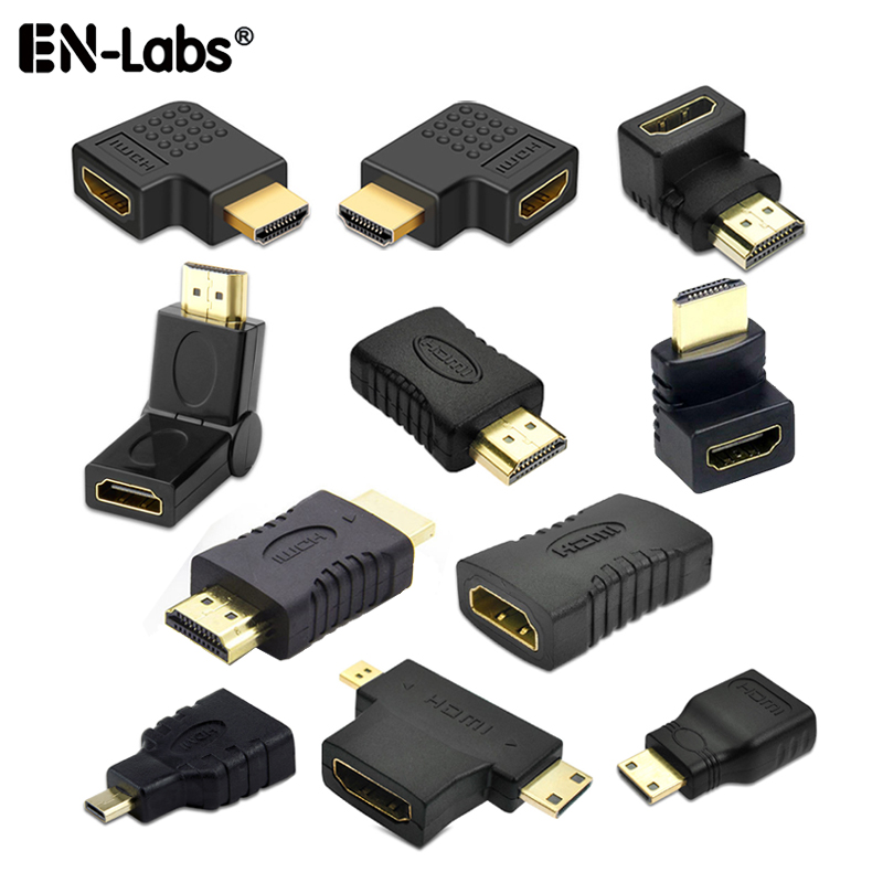 HDMI Cable Connector Adapter 90 Corner Angle Left Right Up Down Male Female Extender,Mini / Micro To HDMI Adaptador Extension