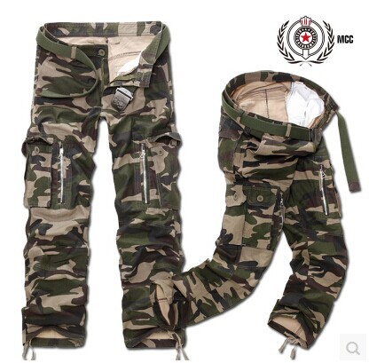 Purchasing Agents Multi-pockets Design Hot Models Men Multi-color Casual Cargo Trousers