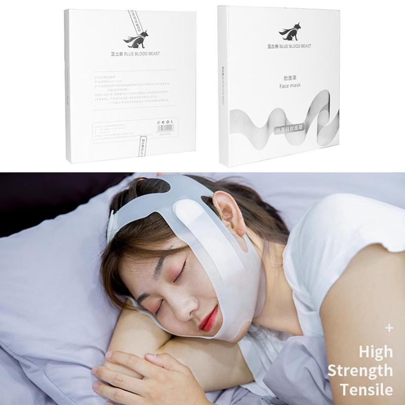 Silicone Face Lift Mask V-face Slimming Bandage Belt Shape Lift Reduce Double Chin Face Thinning Band Reusable Skin Care