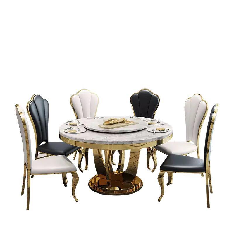 Stainless Steel Dining Chair European Start Leisure Chair Living Room Furniture Light Extravagant Cafe Chair Sallanan Sandalye