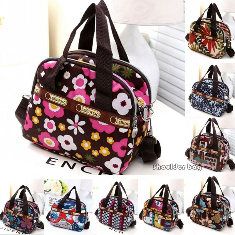 US STOCK Women's Shoulder Bag Tote Messenger Cross Body Waterproof Satchel Nylon Handbag