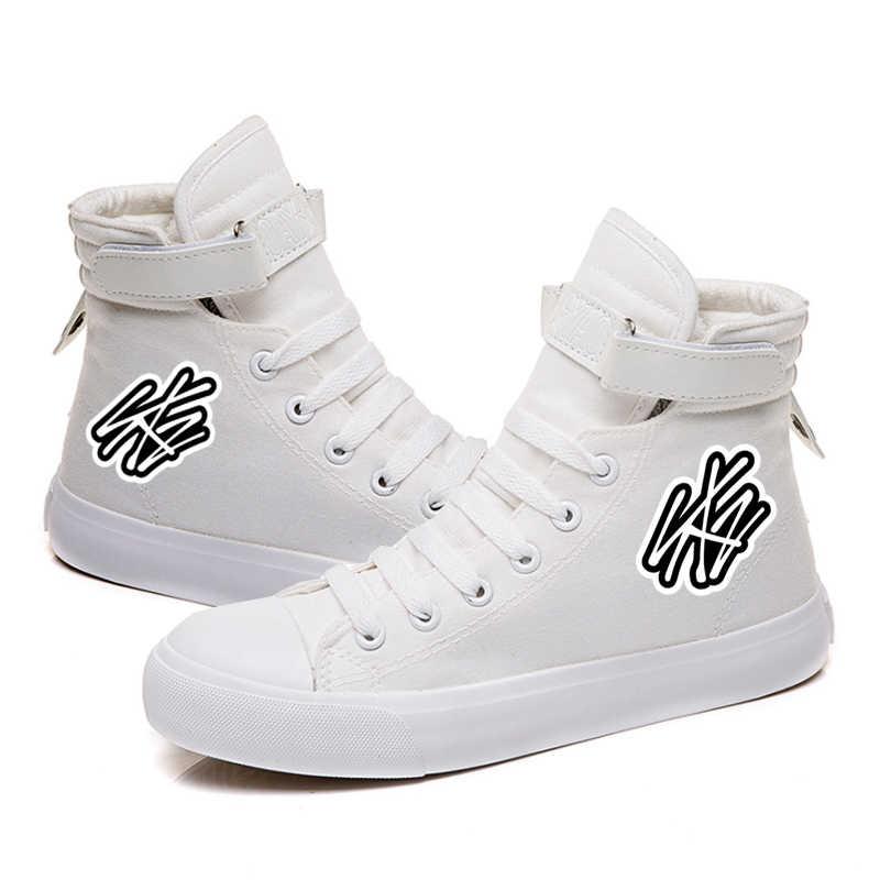 Unisexe Stray Kids Fashion Chaussures Hautes Chaussures Toile Amant Baskets Mode Chaussures /à Lacets Pour Hommes et Femmes