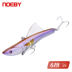 NOEBY Rattlins Fishing Lures 90mm 30g Sinking Vibration Rattling VIB Swimbaits Artificial Hard Bait For Winter 9449 Fishing Lure