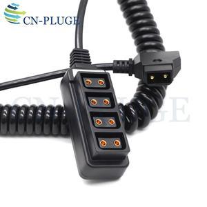 Image 2 - D tap Erkek 4 Port P tap Kadın Kamera güç Kaynağı Dağıtıcı DTAP fourway splitter bahar hatları