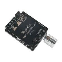 ZK 502L Bluetooth 5.0 kablosuz ses dijital güç amplifikatörü Stereo kurulu 50Wx2 Bluetooth Amp Amplificador güç amplifikatörü