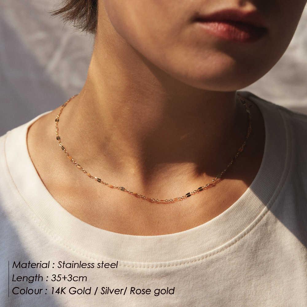 E-manco délicat chaîne collier ras du cou femmes mode multi couches collier pour femmes pendentifs collier ensembles bijoux
