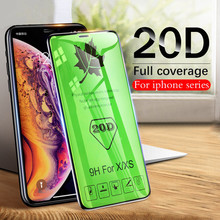 20D Curved Edge Full Cover Protective Glass for IPhone X XR XS Max Tempered Screen Protector 7 8 6 6S Plus Film