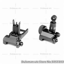 Duloman utc KAC M4 складной передний и задний прицел Набор Тактический PDW/SR25 передний складной и 200-600 м откидной задний прицел