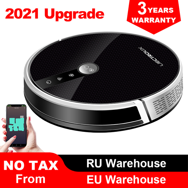 C30B Robot Vacuum Cleaner Map Navigation,WiFi App,4000Pa Suction,Smart Memory,Electric WaterTank,Wet Mopping,Disinfect 1