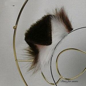 Новинка обруч для волос ручной работы с темно-коричневыми ушками собаки обруч для волос головной убор аксессуары для костюма Косплея