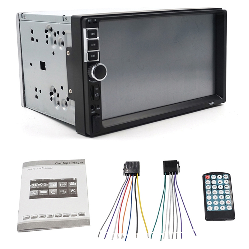 2 Din Car Multimedia Radio Hd 7inch Contact Screen Stereo Bluetooth 12V 2Din Fm Iso Power Aux Input Auto Mp5 Player Sd Usb, 7019