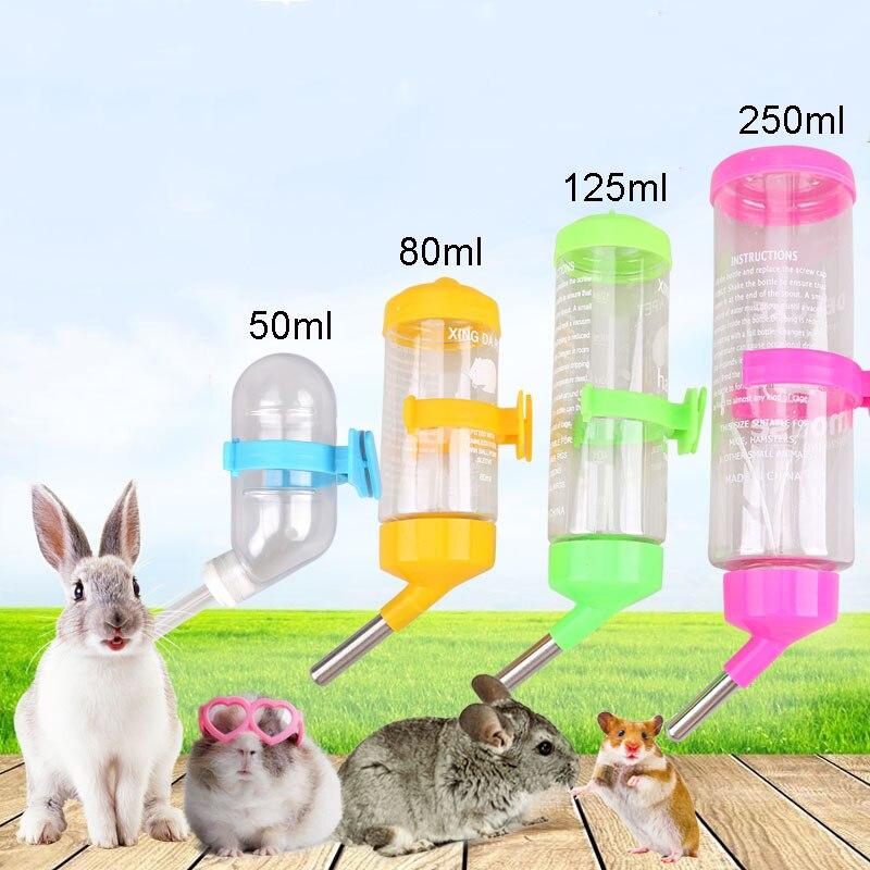 Small Pet Hamster Drinking Fountain Leak Proof Water Bottle Rabbit Automatic Kettle Device Guinea Pig Water Feeding Device