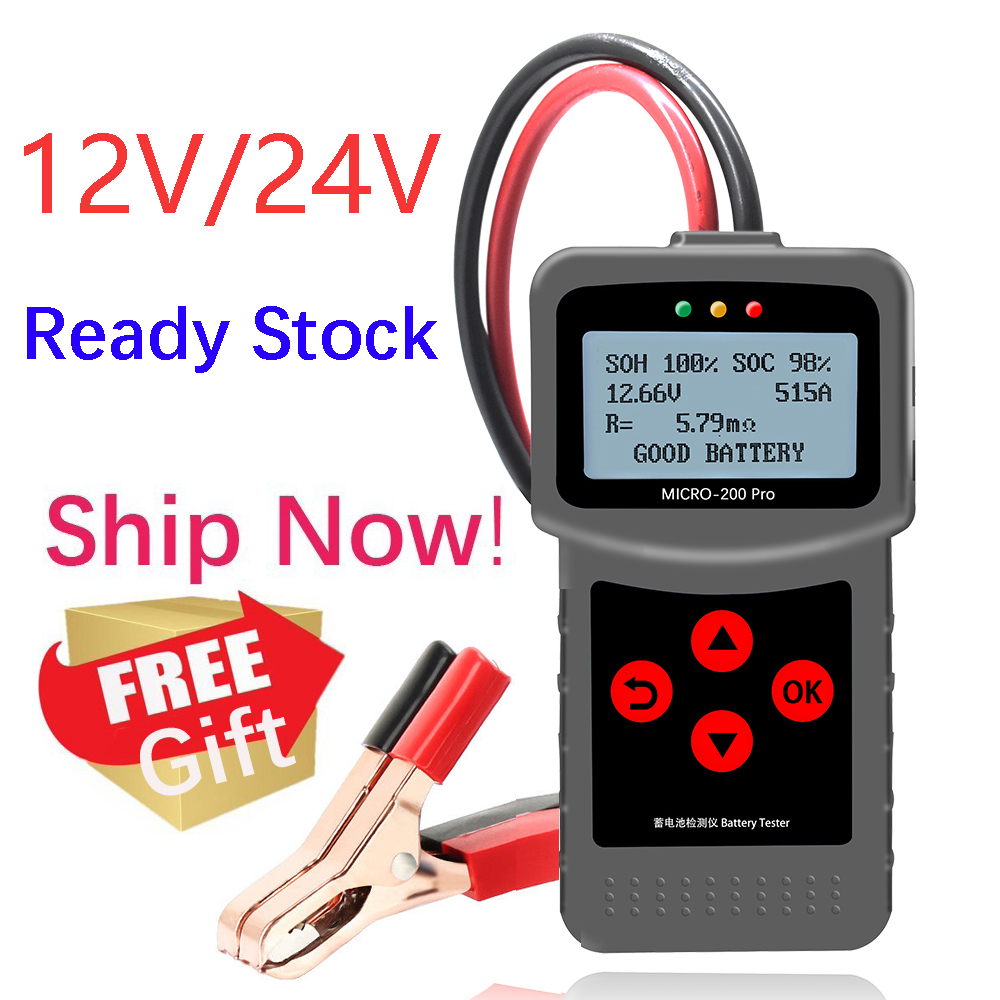 Original LANCOL Micro 200 Pro 24V 12V Car Battery Tester SAE CCA JIS Digital Battery Analyzer Micro 200Pro