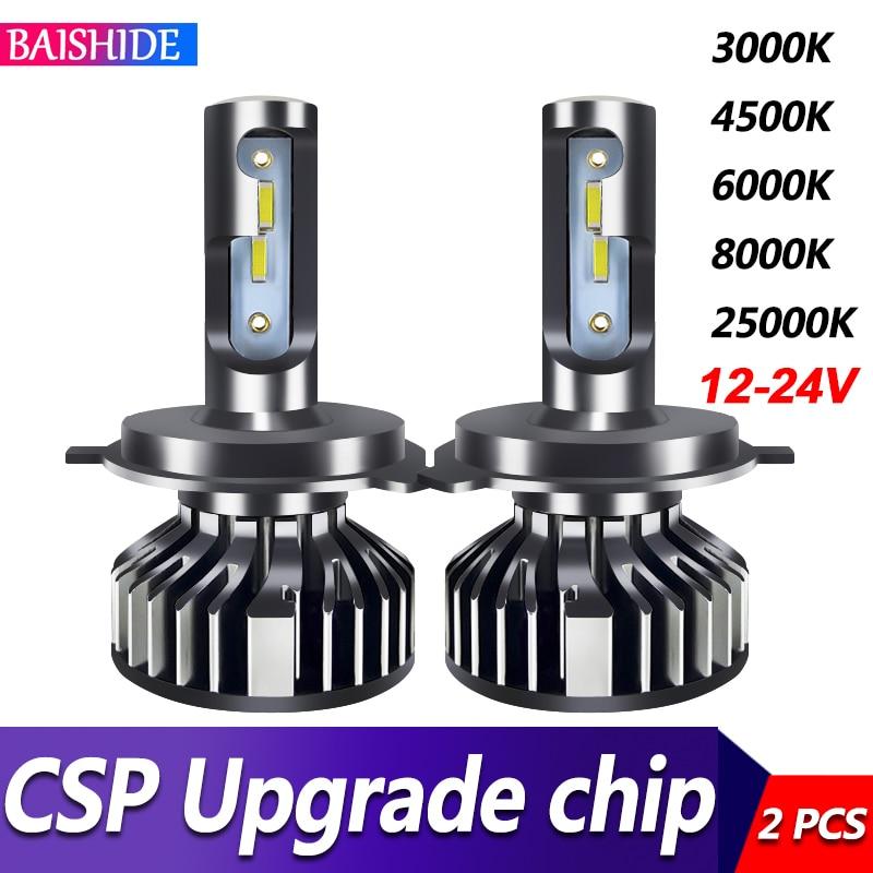 BAISHIDE огни автомобиля H4 светодиодный H7 20000LM H11 светодиодный светодиодные лампы для автомобильных фар лампы H1 H8 H9 9005 9006 HB3 HB4 Turbo H7 светодиодный ...