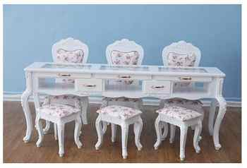 European style white baking lacquer special price double deck manicure table single double person three person manicure table - DISCOUNT ITEM  27 OFF Furniture