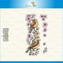 Пресс формы «Птицы на цветах вишни» новинка 2020 металлическая