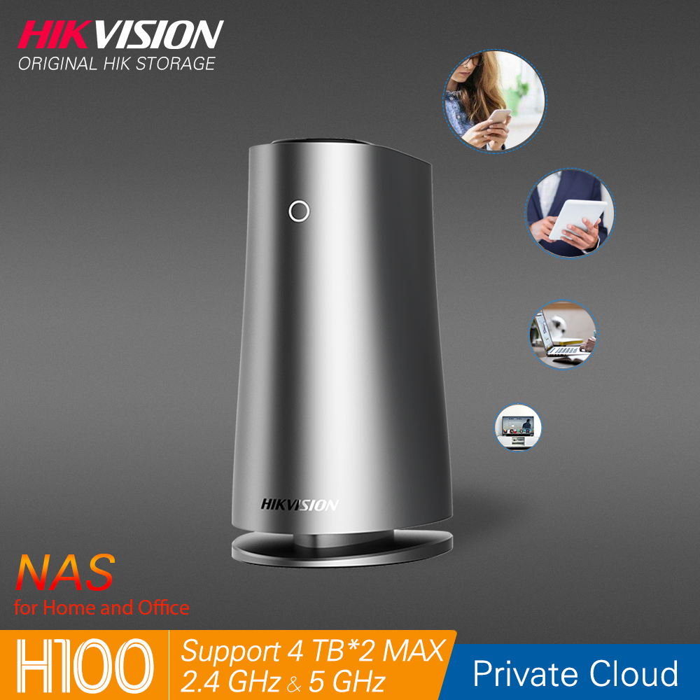 Hikvision HikStorage NAS Private Cloud Sharing WiFi Network Attached Storage Server For Home/Office Support HDDs/SSDs 2.5 Inch