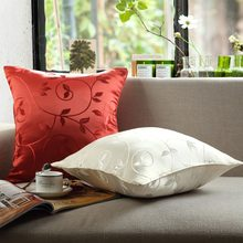 Polyester Embroidery Pattern Pillow Case Cushion Cover Car Home Decor Sofa Chair Square Throw Pillows Cases()
