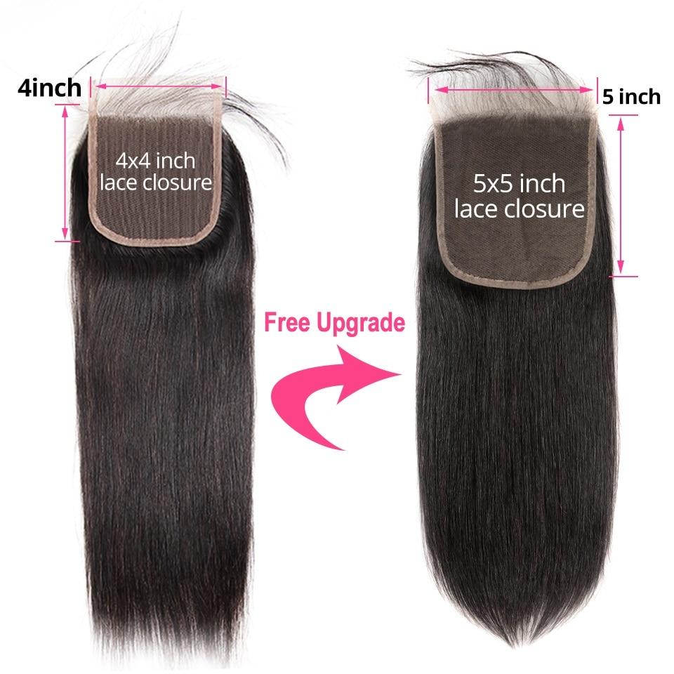 H3c3e1525140e4123933f6d78710c94e9d AliPearl Hair Straight Human Hair 3 Bundles With 5x5 Closure Brazilian Hair Weave Bundles Natural Color Remy Hair Extension