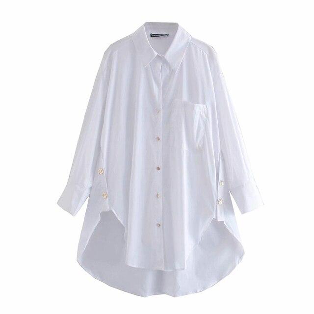 2020 New Fashion Pure white Women Blouses Long Sleeve Turn-down Collar Chiffon Blouse Shirt Casual Tops Slim Elegant Work Shirt 3
