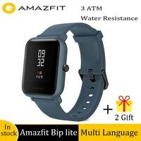 Amazfit bip lite 3atm água-resistência relógio inteligente 45 dias de vida útil da bateria atividade saudável rastreamento aplicativo notificação chamada lembrete