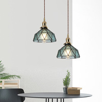 Vintage Led Glass Pendant Handmade Lamp Pendant lights kitchen bedroom bedside aisle restaurant Hanging Lamp WJ122130
