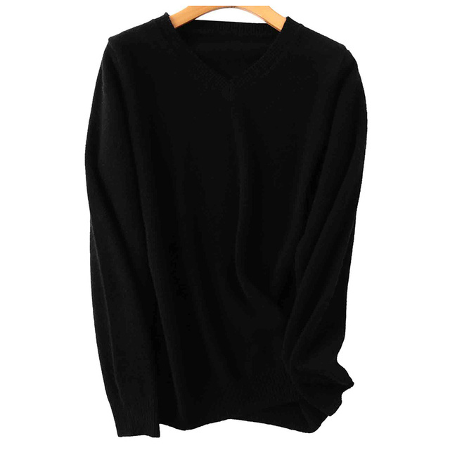 100% Merino Wool Women V-Neck Sweater 2020 Autumn Winter Warm Soft knitted Pullover Femme Jumper Women Cashmere Sweater 3