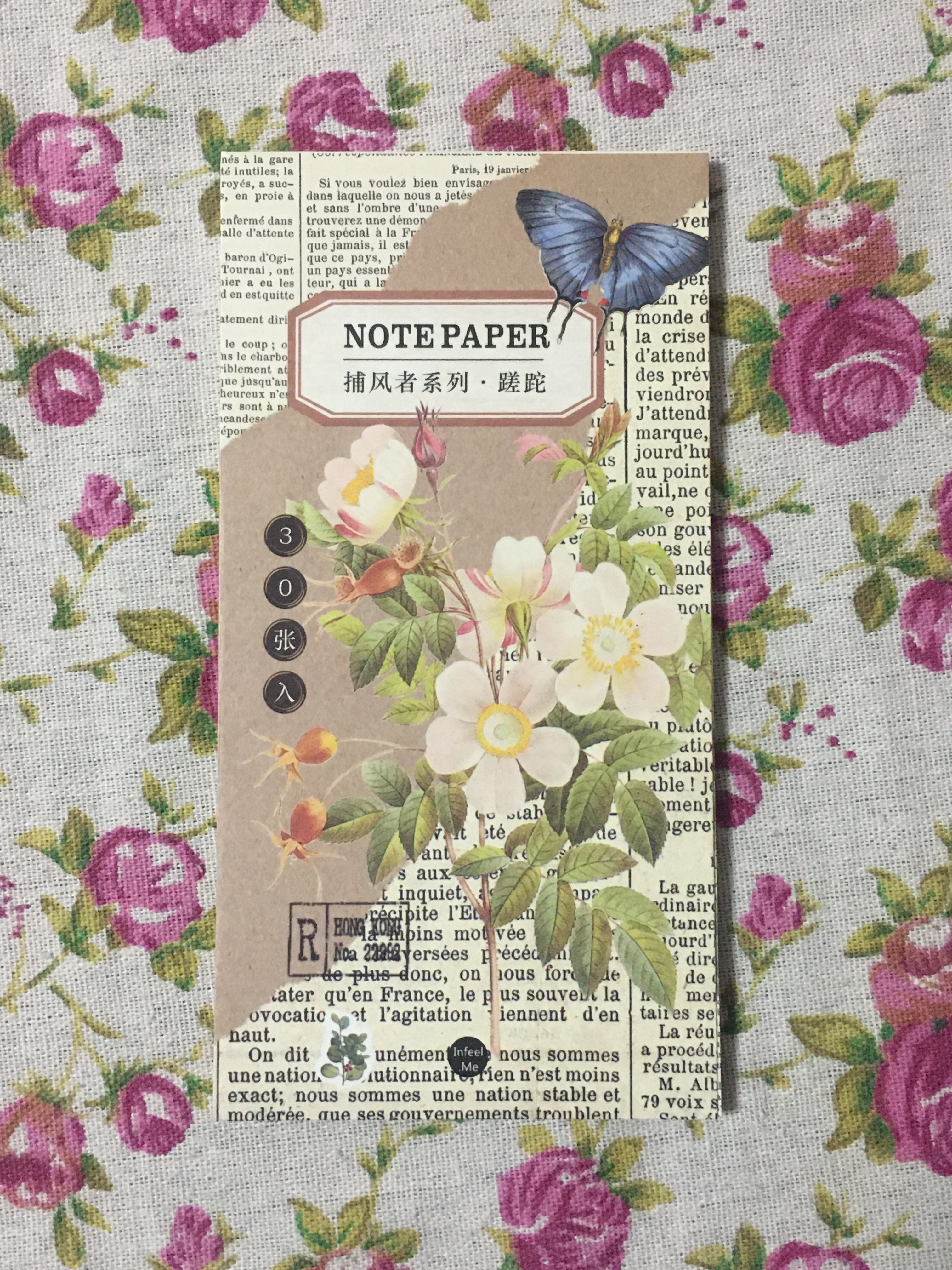 L15- Vintage Flower Note Pad Memo Pad(1pack=30pieces)