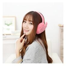 Ear Muffs Protector Earphone Ear-Warmers Winter Girls Plush Fur Wing Fashion Female