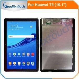 ЖК-дисплей с рамкой для Huawei MediaPad T5, 10,1 дюйма, ЖК-дисплей с дигитайзером тачскрина в сборе, с рамкой, для Huawei MediaPad T5, AGS2-W09, ЖК-дисплей, тачскрин, д...