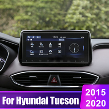 For Hyundai Tucson 2015 2016 2017 2018 2019 2020 Tempered Glass Car GPS Navigation Screen Protector Film LCD protective sticker car tempered glass screen protective film sticker gps multimedia lcd guard for vw volkswagen 2017 2018 tiguan mk2 accessories