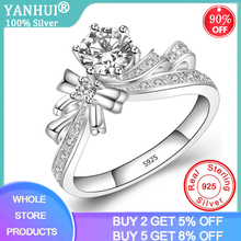 Elegant Creative Butterfly Flowers Crystal Finger Wedding Rings for Women 1.0ct Lab Diamond Glamour Ring Silver 925 Jewelry Girl hope jahren lab girl