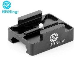 BGNing-Adaptador de Base de montaje CNC para Cámara de Acción, Mini riel de 20mm para GoPro 8 7 6 5 SJcam GitUp XiaoYI, AKASO EK7000 4K