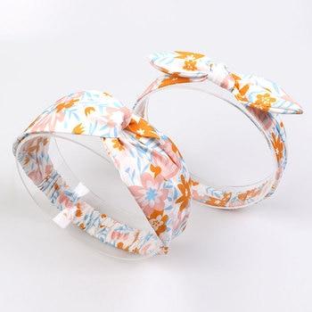 peach chiffon headband