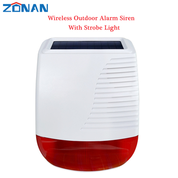 yobangsecurity cheap lcd display voice prompt gsm wireless burglar alarm system security home with strobe siren panic button 433MHz Outdoor Solar Waterproof Siren Wireless light Flash Strobe Loudspeaker for Home Burglar Wifi 4G GSM Alarm Security System