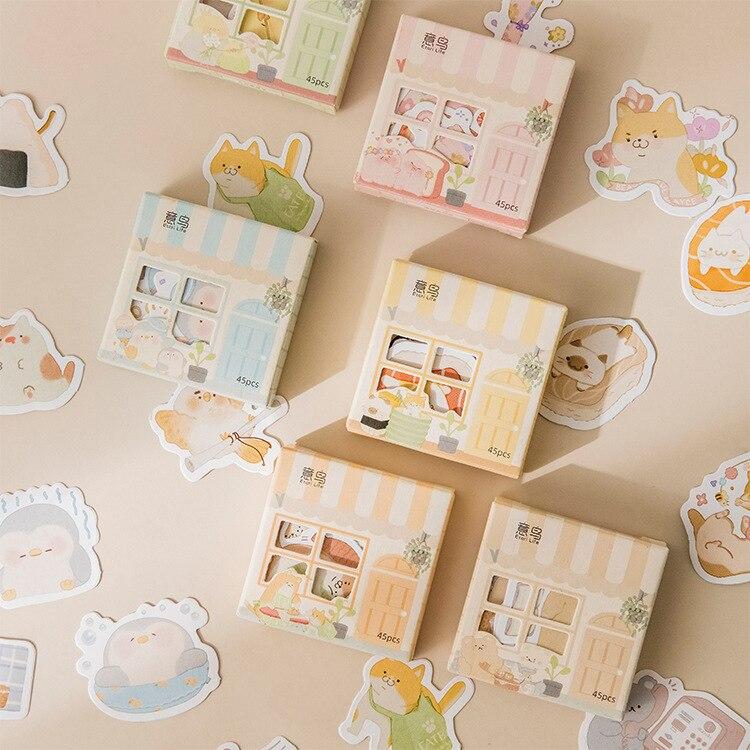 Милый маленький домик, мини-наклейки с животными для скрапбукинга, «сделай сам», стикер для журнала, канцелярские принадлежности, дневник, с...