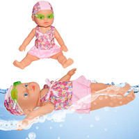 Waterproof Electric Doll Swimming Doll Water Fun Swimming Pool Beach Toys Best Gift For Children Bath Toys H1212