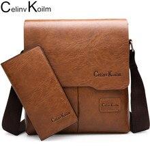 Celinv Koilm Uomo Messenger Bag 2 Set di Cuoio Degli Uomini di Borse A Spalla Affari Crossbody Casual Del Sacchetto di Marca Famosa ZH1505/8068